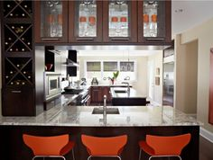 Love this Kohler kitchen, it's warm and inviting yet clean and contemporary!
