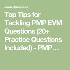 PMP Exam Tips : Earned Value Management (EVM) Calculation questions are usually regarded as one of the most difficult part of the PMP Exam. However, if PMP Aspirants can Earned Value Management, Pmp Exam, Exams Tips, Project Management, This Or That Questions, Top, Career, Carrera, Crop Shirt