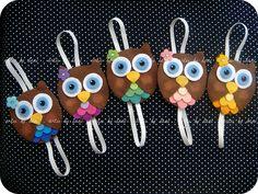 Marcadores de páginas corujinhas by Artes by Dani, via Flickr