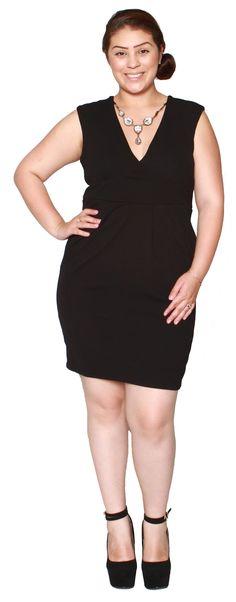 Libian Jr Plus Size Scuba V-neck Cleavage Dress with Bib Necklace (2X, Black). Jr Plus Sizes 1X, 2X, 3X. Not regular Plus! Please refer to measurements below. Bust: (1XL)38-42 inches (2XL)40-44 inches (3XL)42-46 inches. Length: (1XL)36 inches (2XL)36.5 inches (3XL)37 inches. Waist: (1XL)34-36 inches (2XL)36-38 inches (3XL)38-40 inches. Hip: (1XL)42-46 inches (2XL)44-48 inches (3XL)46-50 inches.