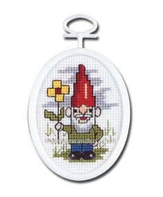 Buy+Garden+Gnome+Cross+Stitch+Kit+Online+at+www.sewandso.co.uk