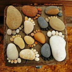 What to do with all those cool rocks you collect all year from the beach!