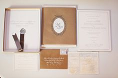 Stationery set for timeless and classic wedding, photos by Michele M Waite Photography | junebugweddings.com