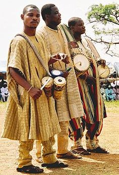 The Yoruba were organized into small city states and were under control of kings.  The people pictured above are still part of the Yoruba culture and lifestyle.