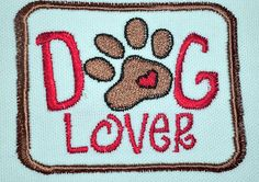 IronOn Patch  DOG LOVER by NancysPatches on Etsy, $5.00