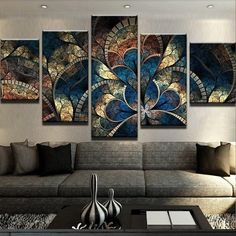 Abstract Canvas Painting Wall Art Oil Poster Wall Pictures 5 Panel Fantasy Flowers For Living Room Home Decor Frames Panel Fantasy For Living Room Home Decor Super Discounted Price: Moving Fast At This Price & FREE Worldwide Shipping Just Fo Abstract Canvas Wall Art, Frames For Canvas Paintings, Canvas Art Prints, Wall Canvas, Canvas Artwork, Multi Canvas Art, Wall Art Sets, Framed Wall Art, Tableau 5 Parties