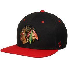Chicago Blackhawks Zephyr Z11 Snapback Adjustable Hat - Black/Red - $27.99