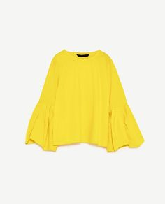 Image 8 of POPLIN TOP WITH PLEATED SLEEVES from Zara