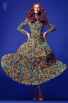 Recycled Fashion - this one is made from MnMs! I wasn't sure whether to pin this onto Fashion or Food...