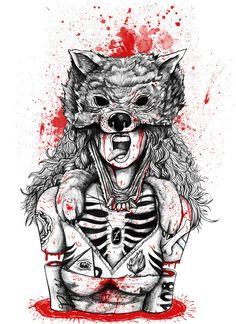 Chapeuzinho Vermelho - Z Clothing Tattoos 3d, Body Art Tattoos, Sleeve Tattoos, Tattoo Sketches, Tattoo Drawings, Art Drawings, Tattoo Trash, Traditional Tattoo, Dark Art