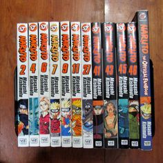 Naruto Lot of 12 Manga Graphic Novels Vol. 2 4 6 7 9 11 12 41 43 45 56 Fanbook