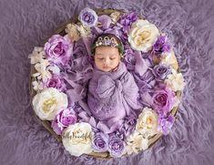 Mini Ingrid Newborn Flower Crown {Purple} | Sew Trendy | Maternity Gown Shop in Riverton, Utah