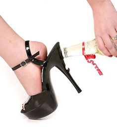 Bottle Opening Shoes, the perfect party shoes