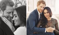 Two hours after releasing the first two official pictures, Kensington Palace said Harry and Meghan had 'decided to share this candid photograph from the day of their portrait sittings'.