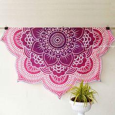Items similar to Round Beach Towel Mandala Roundie Thick Circle Beach Towel Bohemian Beach Blanket Boho Towel Extra Thick Circle Towel Roundie pink lotus on Etsy