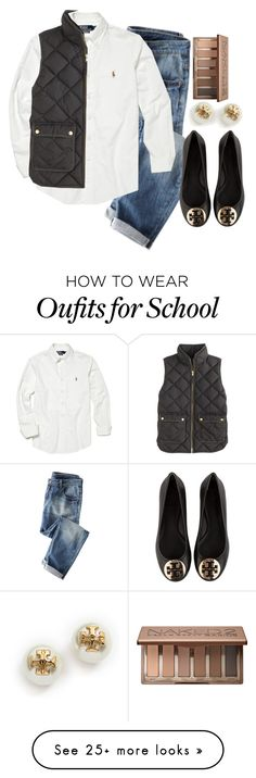"""""""Ughhh school is tomorrow"""" by aldenbarbour12 on Polyvore featuring Polo Ralph Lauren, J.Crew, Urban Decay and Tory Burch"""