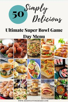 If you are looking to make the Ultimate Super Bowl Game Day Menu look no farther then this list of addictively delicious game day recipes. #superbowl #football #gameday #feedacrowd #tailgatefood