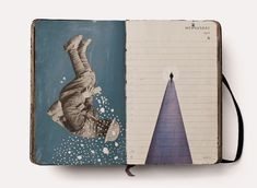 Diario visual - Pep Carrió // Laboratorio Up Book, Book Art, Notebook Sketches, Sketch Books, Collages, Moleskine, Sketchbook Pages, Paper Artwork, Art Journal Pages