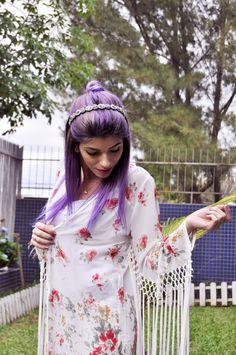 Look Kimono + Hair Purple - http://www.danirabello.com/