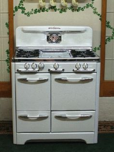 Old school stoves    http://www.antiquegasstoves.com/pages/okm36chrome.html