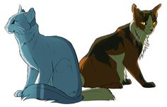 Two sides of the same coin~ Mapleshade and BlueStar by ClimbToTheStars on @DeviantArt