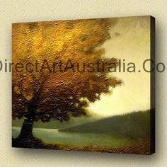 Tree of golden leaves - Direct Art Australia, Direct Art Australia provides 100% hand painted oil paintings on canvas - no cheap prints or posters! 30 Day Money Back Guarantee.  http://www.directartaustralia.com.au/