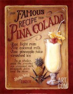 Pina Colada Art Print by Lisa Audit at eu.art.com