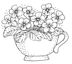.really cute teacup flowers