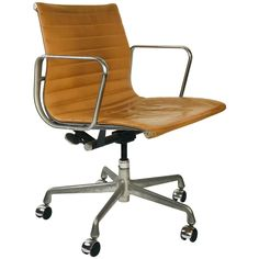 Eames Management Office Chair for Herman Miller Camel leather Festival Hall, Charles Eames, Office, Desk Chair, Herman Miller, Chair Design, Tan Leather, 5 D, Chairs