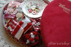 Fabulous Valentine Heart Box Inspiration Kit by JustBeenMeBoutique on Etsy