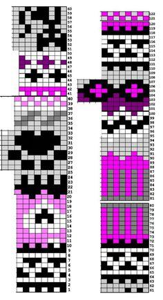 Kissan uni -sukkien kirjoneulekaavio, tekijä: Taija Pesonen/Taikutti