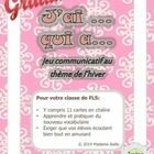 FREE J'ai Qui a (Oral French Chain Activity) Winter themed