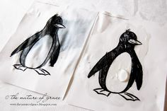Use Vaseline to illustrate how a penguin sheds water. Could have children cover hands in Vaseline, as well, for a lesson on the Antarctic