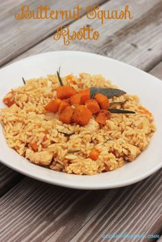 Butternut Squash and Chicken Risotto on MyRecipeMagic.com #squash #chicken #butternut #risotto