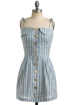 Everything But-ton the Dress | Mod Retro Vintage Printed Dresses | ModCloth.com - StyleSays
