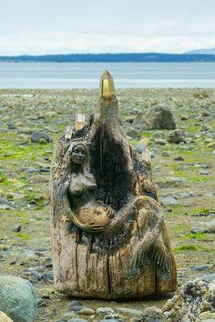 Driftwood Mermaid beautifully created by Debbie Bernier http://www.etsy.com/people/DebbieBernier