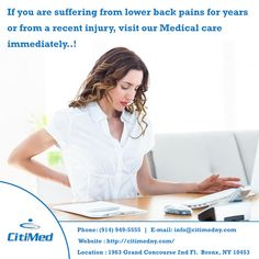As experienced,board-certified physicians, the CitiMed team is able to gain a comprehensive view and analysis of your injury and pain. The facilities offer complete diagnostic and rehabilitative treatment services. The pain management division offers immediate, specialized medical care to help restore proper function quickly. http://citimedny.com/