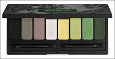 "Kat Von D True Romance Eyeshadow Palette – Gypsy. Too bad this was limited edition, because the colors are crazy-unique and pigmented. The second color from left is actually a shifting color that is green and purple (!!) and the ""white"" is really an exceptionally-light green. Probably my favorite palette after the Nakeds."