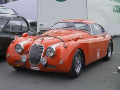 Jaguar XK 150. I've always thought that this car was beautiful and goofy all at once.