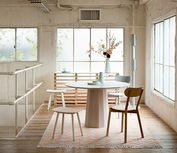 Colour Wood Dining table by Scholten & Baijings for Karimoku New Standard Small Open Plan Kitchens, Open Plan Kitchen Living Room, Room Interior, Interior Design, Best Kitchen Designs, Kitchen Ideas, Made In Japan, Cuisines Design, Dining Room Design