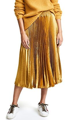 gold and pleated