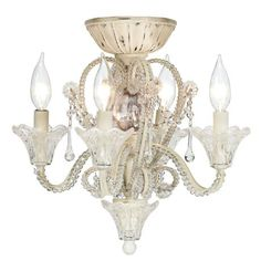 For the master bedroom. The best of both worlds: ceiling fan and chandelier! Pull Chain Crystal Bead Candelabra Ceiling Fan Light Kit