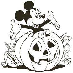 Halloween coloring pages for kids, free Printables Mickey Pumpkin Disney