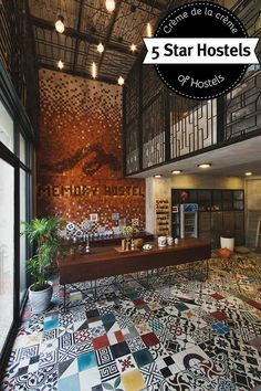 Memory Hostel in Da Nang – Fire-spitting Dragon and Million Tiles. Corporate Interiors, Hotel Interiors, Hostels, Hotel Concept, Indochine, Design Hotel, Hotel Lobby, Hospitality Design, Da Nang