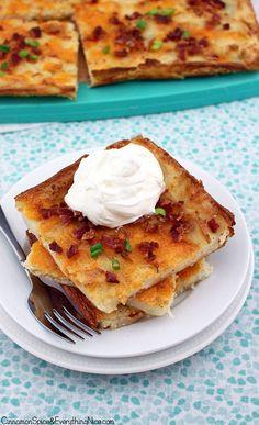 Bacon & Cheddar Mashed Potato Crunch by CinnamonKitchn, via Flickr