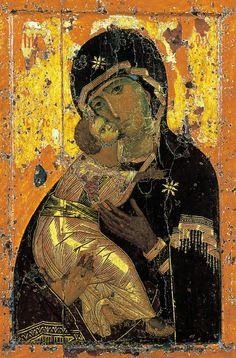 Theotokos of Vladimir. I love this icon.
