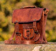 Vintage Handmade Leather Satchel
