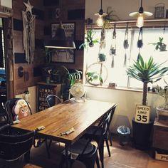 観葉植物♡/IGと同じpic!/サボテン♡/多肉植物♡/板壁♡/DIY♡…などのインテリア実例 - 2015-08-15 02:49:43 | RoomClip(ルームクリップ)