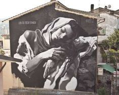 """Street Art Masterpiece """"with tired eyes"""" by GOMEZ"""