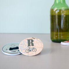 Initial Magnetic Bottle Opener